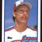 Randy Johnson Rookie 1989 Topps # 647 Pitcher Montreal Expos