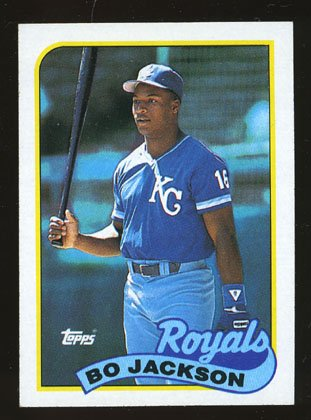 Bo Jackson 1989 Topps # 540 Outfield Kansas City Royals