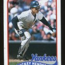 Rickey Henderson 1989 Topps # 380 Outfield New York Yankees HOF