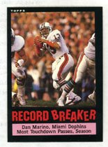 Dan Marino Record Breaker 1985 Topps # 4 Quaterback Miami Dolphins