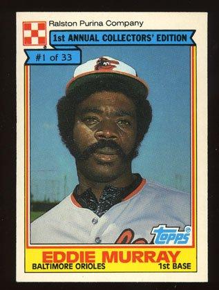 Eddie Murray 1984 Ralston Purina # 1 First Base Baltimore Orioles