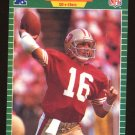 Joe Montana 1989 Pro Set # 381 Quaterback San Francisco 49ers