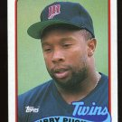 Kirby Puckett 1989 Topps # 650 Outfield Minnesota Twins