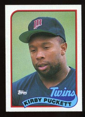 Kirby Puckett 1989 Topps # 650 Outfield Minnesota Twins
