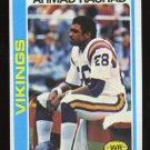 Ahmad Rashad 1978 Topps # 125 Wide Receiver Minnesota Vikings