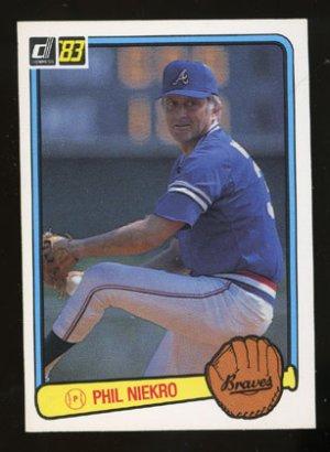 Phil Niekro 1983 Donruss # 97 Pitcher Atlanta Braves