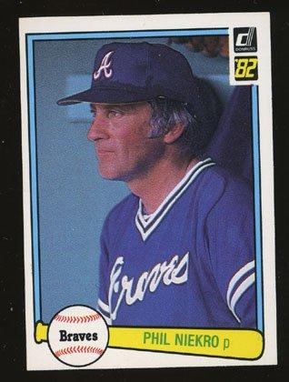 Phil Niekro 1982 Donruss # 475 Pitcher Atlanta Braves