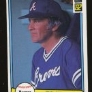 Phil Niekro 1982 Donruss # 475 Pitcher Atlanta Braves