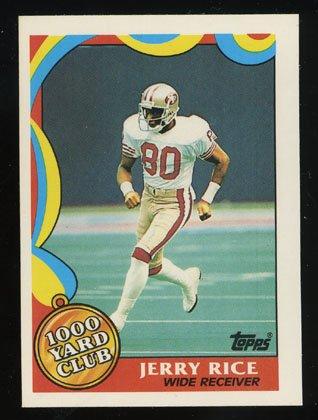 Jerry Rice 1989 Topps Insert 1000 Yard Club # 5 San Francisco 49ers