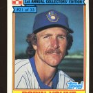 Robin Yount 1984 Ralstom Purina # 21 Shortstop Milwaukee Brewers