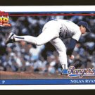 Nolan Ryan 1991 Topps # 1 Pitcher Texas Rangers