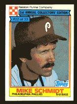 Mike Schmidt 1984 Ralston Purina # 22 Third Base Philadelphia Eagles
