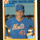 Tom Seaver 1984 Ralston Purina # 8 Pitcher New York Mets