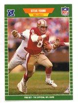 Steve Young 1989 Pro Set # 388 Quaterback San Francisco 49ers