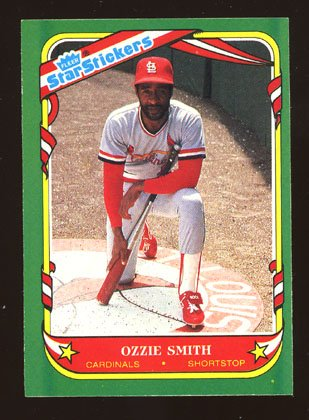 Ozzie Smith 1987 Fleer Star Sticker # 112 Shortstop St. Louis Cardinals