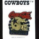 Coca-Cola Dallas Cowboys Pin Mid 80's
