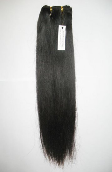 "VIRGIN STRAIGHT HAIR -18"""