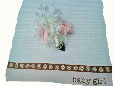 Baby Shower Girl Sock Corsage
