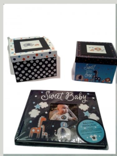 """Navy Blue """"Sweet Baby"""" Baby's First Memory Book"""