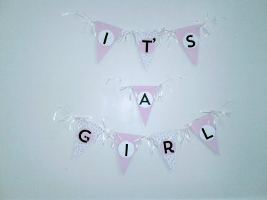 It' A Girl Pink Baby Shower Banner