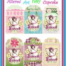 Altered Art Cupcake Fairy Tags - Digital Download ONLY