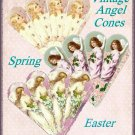 Vintage Easter Angel Cone Ornaments - Digital Download ONLY