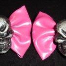 Skull Hair Bows! NEW Barrettes for Spooky Dolly Lolita Goth living dead girl Halloween