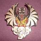 Devil Demon Heavy Metal Skulls Pin