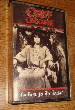 Ozzy Osbourne-No Rest for the Wicked audio Cassette Tape FREE SHIPPING