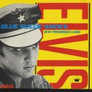"ELVIS 7"" record  Blue Suede Shoes b/w promised Land Picture Sleeve / Blue Vinyl 45"