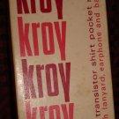 Vintage Kroy Six Transistor Shirt Pocket Radio no. T-660 In Box Works