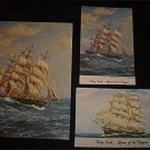 Cutty Sark Ship 3 Postcards and 2 Old Admission Tickets