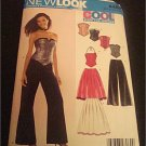 New Look Pattern 6480 Juniors Teens Corset Top,pants and Skirt