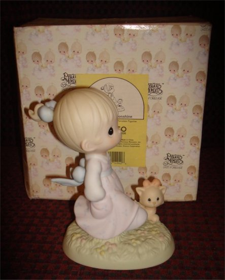 Precious Moments - Walk in the Sonshine (girl with kitten) Retired figurine  524212