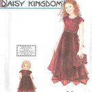 """9946 Simplicity -Daisy Kingdom Dress Pattern for Girl 7-8-10 & her 18"""" Doll"""