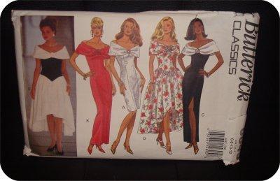 Misses Classic -Off Shoulder sleeveless Dress Butterick Pattern 6645 sz.6-12