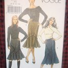 VOGUE Pattern V 8296 (Easy) Slight flare Misses Skirt Size 6, 8 ,10,12Uncut