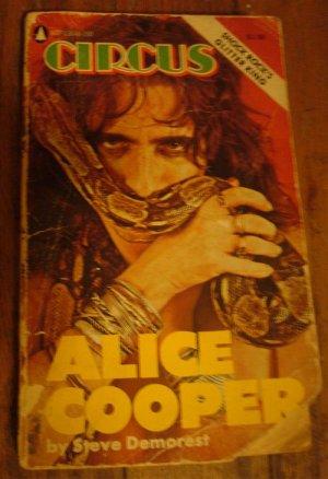 Alice Cooper Circus Magazine Book  By Steve Demorest RARE Shock Rock Paperback