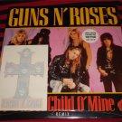 "Guns N' Roses  Sweet Child O'Mine 7"" Vinyl Limited Edition w/Cross Tattoo"