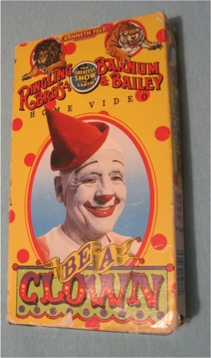 Ringling Bros Barnum Bailey Be A Clown Vhs Video Rare