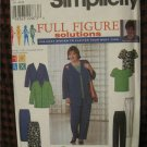 Simplicity Pattern 8651 Full Figure Solutions (HOAX system) Jacket Top Pants Skirt 18W-24W