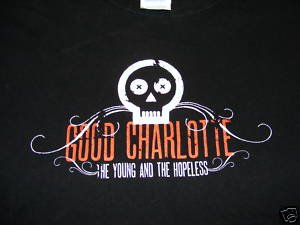 Good Charlotte The Young and the Hopeless Size Medium Rock Shirt (pop punk)