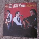 "The Survivors-Johnny Cash Jerry Lee Lewis Carl Perkins 12"" Vinyl Record (LIVE)"