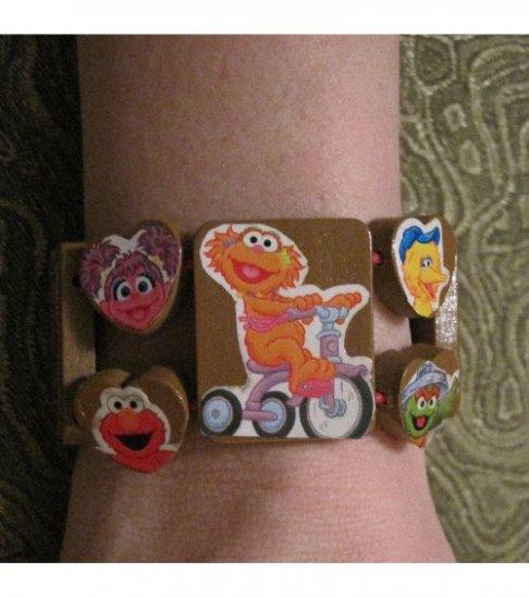 Sesame Street One of a Kind HandMade Stretch Bracelet Teen Trendy