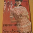 Vintage 60's Sew-Easy Advance 3140 dress pattern uncut size 16