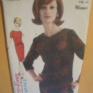 Vintage Advance 3093 Sew Easy Pattern Misses two Piece Dress Size 16