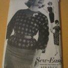 Vintage Advance Sewing Pattern 3082 Misses size 14 Dress & Overblouse