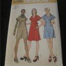 Simplicity 5786 Vintage 70s Scoop Neck Dress Jumper