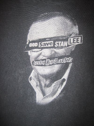 God Save Stan Lee Shirt Size Adult Small (Used) Comic Book writer for Iron Man/Spider man