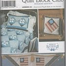 Simplicity Pattern 9727Quilt Block/Pillow sham/Wall hanging AMERICANA Flag & Sails (USA)